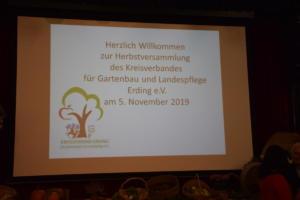 Herbstversammlung 5.11.2019